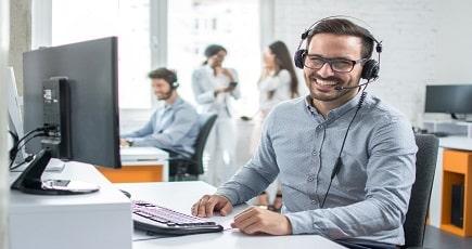 Photo of a Call Centre Executive